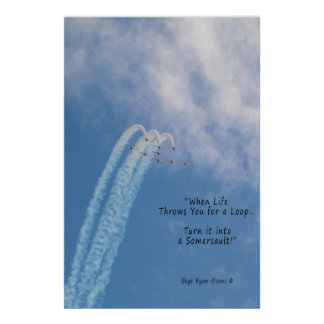 De Subsone Stunt van Turbojets motivatie Aerobatic Poster