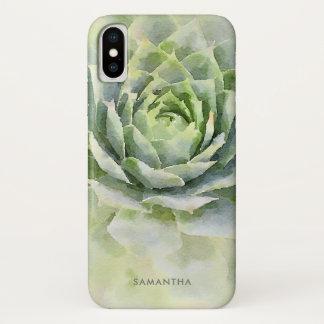 De Succulente Douane van de waterverf iPhone X Hoesje