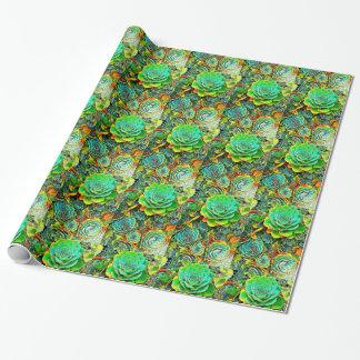 De succulente Omslag van de Gift van het Pop-art Inpakpapier