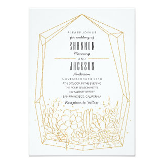 De succulente Uitnodiging van het Huwelijk
