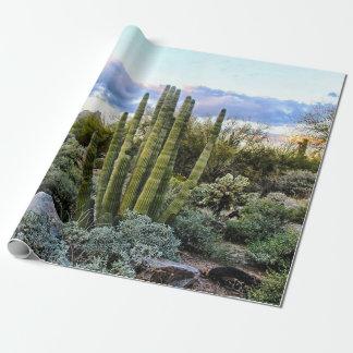 De Succulente Zonsondergang van Scottsdale Inpakpapier