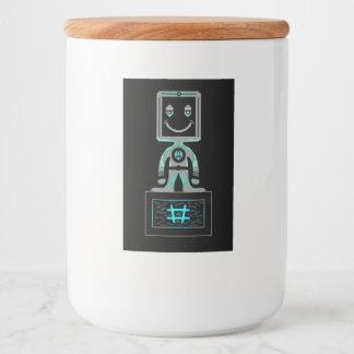 De Super held van het Label van de knoeiboel Voedselcontainer Etiket