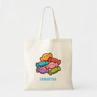 De super leuke snoepjes van de kawaiiregenboog draagtas