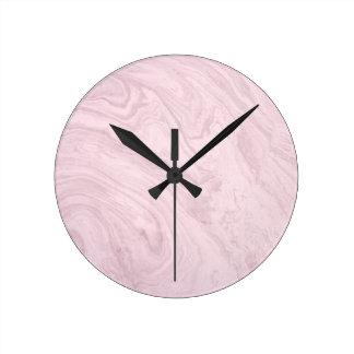 De super ROZE Marmeren Abstracte Werveling van de Ronde Klok