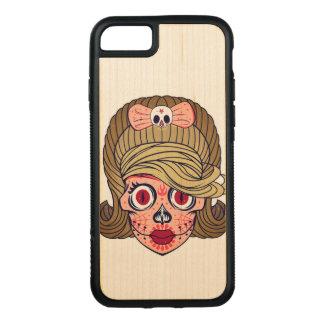 De super Schedel van de Suiker Girly Carved iPhone 8/7 Hoesje