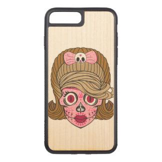 De super Schedel van de Suiker Girly Carved iPhone 8 Plus / 7 Plus Hoesje
