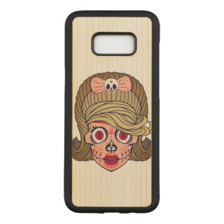 De super Schedel van de Suiker Girly Carved Samsung Galaxy S8+ Hoesje