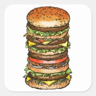 De super Sticker van de Hamburger