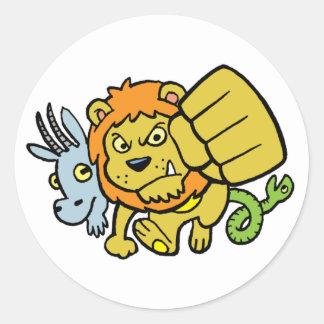 De super Sticker van de Mascotte van de Stempel