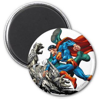 De superman bestrijdt Monster Magneet