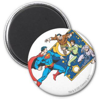 De superman bestrijdt Vijanden Koelkast Magneetjes