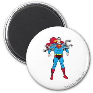 De superman breekt Kettingen Magneten