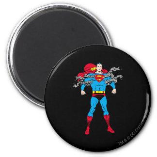 De superman breekt Kettingen Ronde Magneet 5,7 Cm