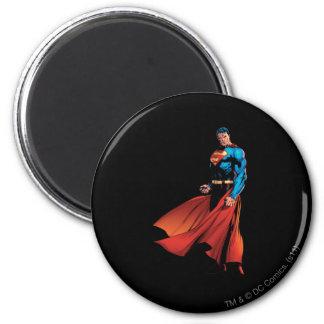 De superman kijkt Voor Ronde Magneet 5,7 Cm