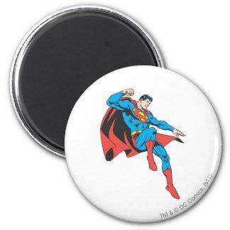 De superman landt licht ronde magneet 5,7 cm