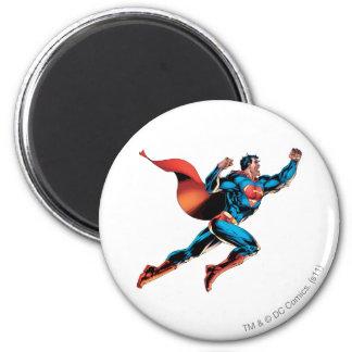 De superman schreeuwt ronde magneet 5,7 cm