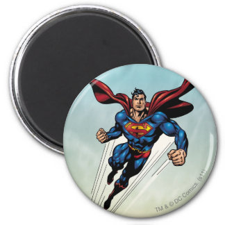 De superman springt omhoog ronde magneet 5,7 cm