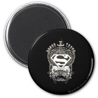 De superman stileerde de Eer van |, Waarheid op Ronde Magneet 5,7 Cm