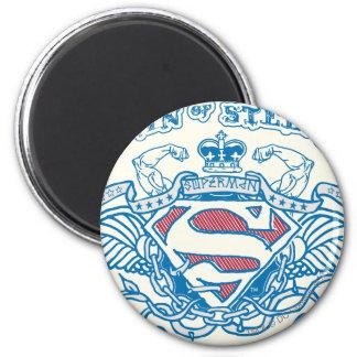 De superman stileerde de Vleugels van | en Ronde Magneet 5,7 Cm