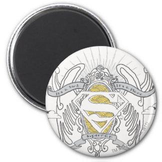 De superman stileerde | een Vogel, een Logo van Ronde Magneet 5,7 Cm