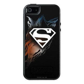 De superman stileerde het Blauwe Oranje Logo van | OtterBox iPhone 5/5s/SE Hoesje