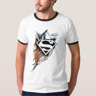 De superman stileerde het Blauwe Oranje Logo van | T Shirt