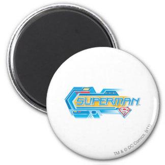 De superman stileerde het Elektronische Logo van | Ronde Magneet 5,7 Cm