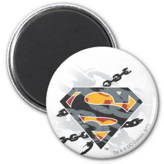 De superman stileerde het Logo van de Kettingen Ronde Magneet 5,7 Cm