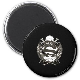 De superman stileerde het Logo van de Ronde Magneet 5,7 Cm