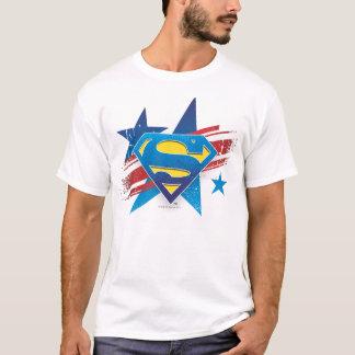 De superman stileerde het Logo van de Sterren en T Shirt