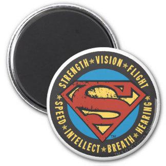 De superman stileerde het Logo van de Vlucht van Ronde Magneet 5,7 Cm