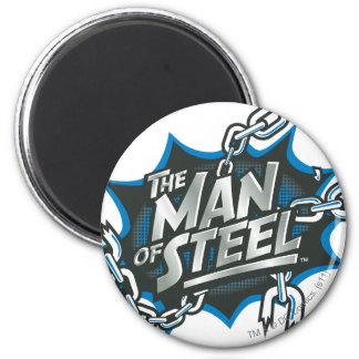 De superman stileerde het Man van   van het Logo Ronde Magneet 5,7 Cm