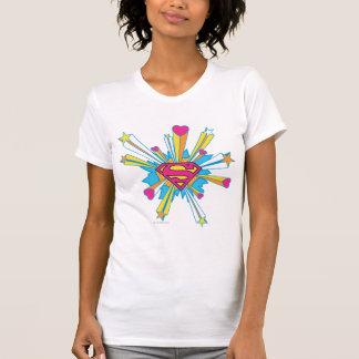 De superman stileerde het Roze van | met het Logo T Shirt