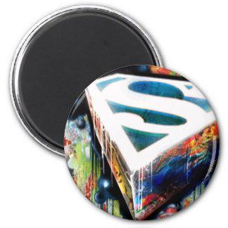 De superman stileerde het Stedelijke Logo Graffiti Ronde Magneet 5,7 Cm
