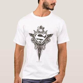 De superman stileerde het Witte Logo van de Ster T Shirt