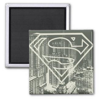 De superman stileerde Logo van de Metropool van | Vierkante Magneet