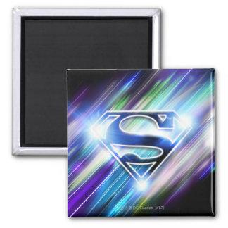 De superman stileerde Logo van de Uitbarsting van Vierkante Magneet