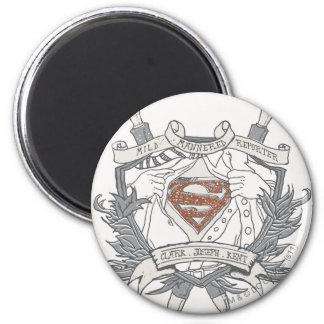 De superman stileerde Logo van de Verslaggever van Ronde Magneet 5,7 Cm