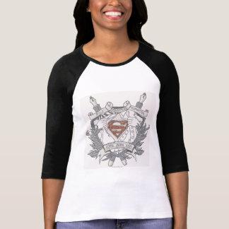 De superman stileerde Logo van de Verslaggever van T Shirt
