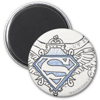 De superman stileerde Logo van de Vleugels van het Ronde Magneet 5,7 Cm