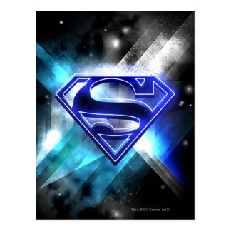 De superman stileerde Logo van het Kristal van | Briefkaart