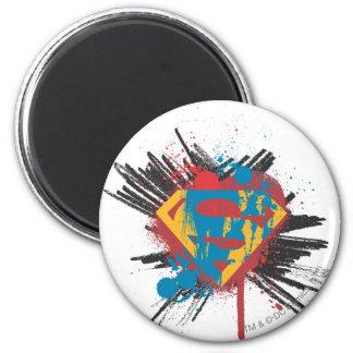 De superman stileerde   ploetert Logo Ronde Magneet 5,7 Cm
