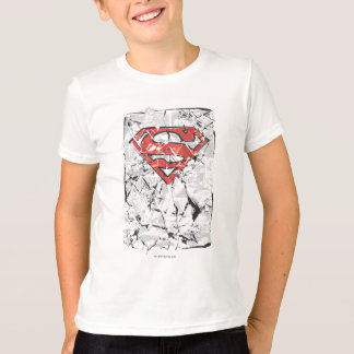 De superman stileerde | Verfrommeld Grappig Logo T Shirt