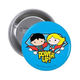 De Superman van Chibi & de Macht van Chibi Ronde Button 5,7 Cm