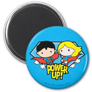 De Superman van Chibi & de Macht van Chibi Ronde Magneet 5,7 Cm