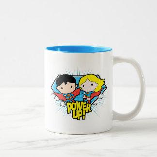 De Superman van Chibi & de Macht van Chibi Tweekleurige Koffiemok
