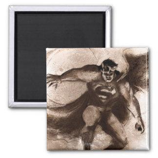 De Superman van de koffie Vierkante Magneet