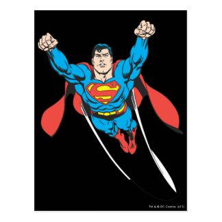 De superman vliegt vooruit briefkaart