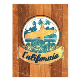 De surfplank van Californië Briefkaart