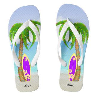 De Surfplank van de Palm van Kerstmis van het Teenslippers
